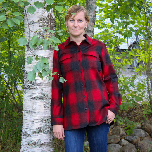 Pendleton naisten Board Shirt, Red/Black Buffalo check