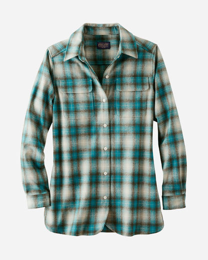 Pendleton Women's Board Shirt - Turquoise/Green Ombre 1968