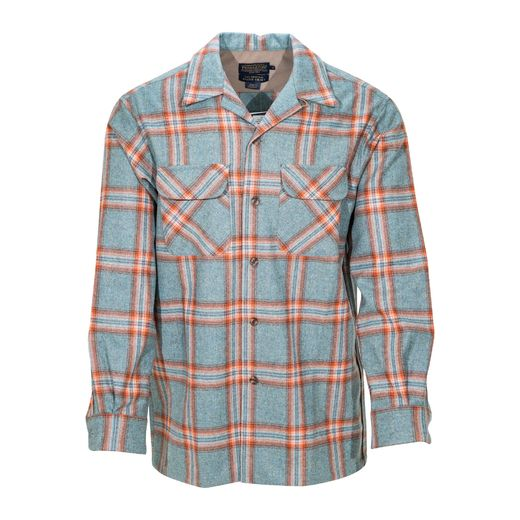 Pendleton Board Shirt, Aqua Mix/Copper Plaid 32089