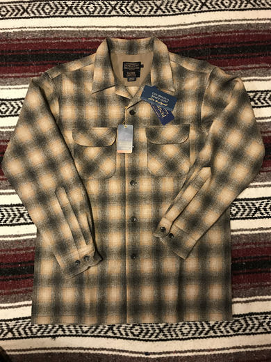 Pendleton Board Shirt - Oxford grey/Tan Ombre