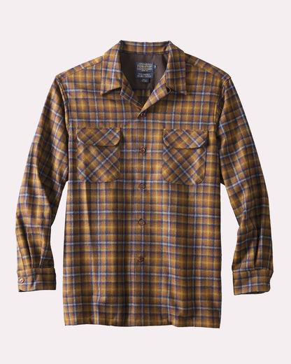 Pendleton Board Shirt 1963 Brown/Blue Plaid