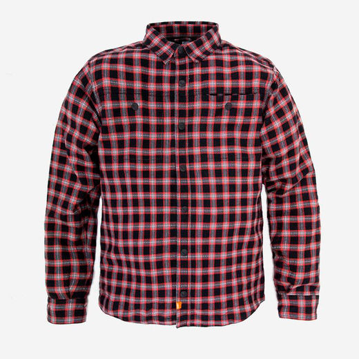 SA1NT moto flannel shirt Red/Black