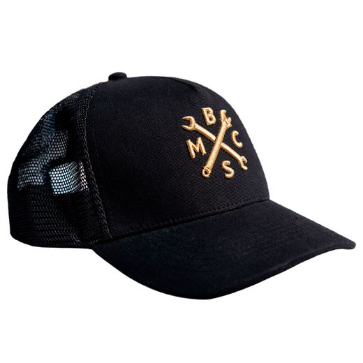 BSMC spanners cap, black and gold